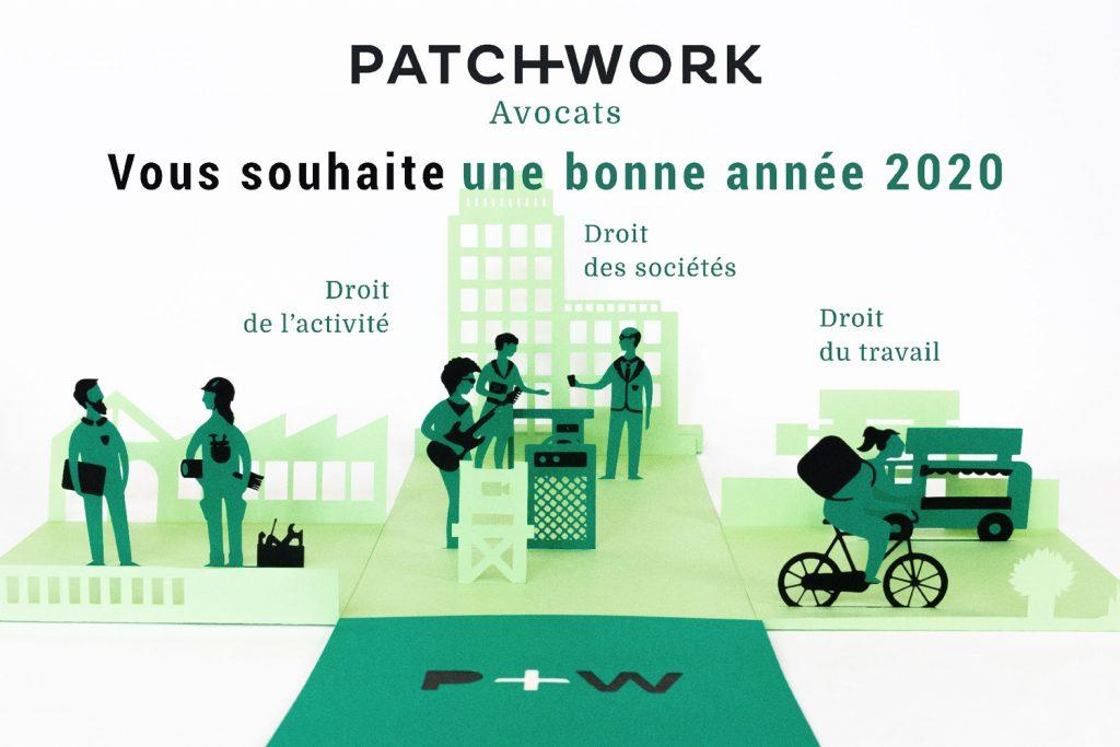 Voeux 2020 Patchwork Avocats
